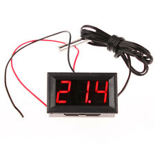 -50~110C Digital Thermometer Red LED Panel Temperature Meter Probe Sensor DC 12V