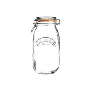 Kilner Clip Top Round 1.5L Glass Jar Jam Rice Coffee Storage Holder Kitchenware