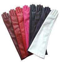 Women Lady PU Leather Over Elbow Long Gloves Opera Wedding Evening Party Gloves