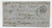 1856 Bremen Germany to North Carolina transatlantic stampless [H.541]