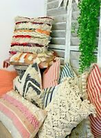 Boho Macrame Style Cushion Covers & Infills Chic Decor Sofa Bed Scatter Pillow