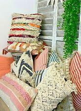 Boho estilo Macramé Cushion Covers & infills Chic Decoración Almohada De Dispersión Sofá Cama