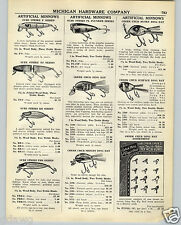 1938 PAPER AD Sure Strike Jointed Pike Creek Chub Ding Bat Musky Fishing Lure