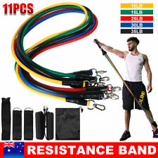 13Pcs Latex Resistance Bands Heavy Workout Exercise Gym Tubes Fitness Yoga Strap