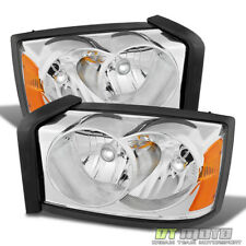 2005-2007 Dodge Dakota Replacement Headlights Headlamps Pair Left+Right 05 06 07
