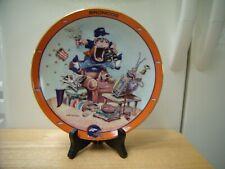 """8.25""""D Denver Broncos Nfl Danbury Mint Fan Plate Dish Gary Patterson Wood Stand"""