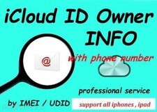 FULL Apple icloud ID owners information_Directly from Apple server