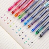 Bunte Gel Ink Pen Gel Pens Schule Bürobedarf Schreibwaren B7T1 Y2D5