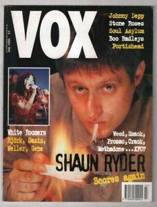 VOX Music Magazine Shaun Ryder Bjork Johnny Depp July 1995 100520nonr