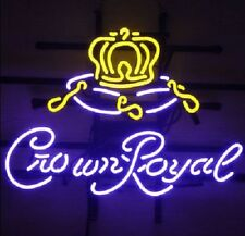 "New Crown Royal Neon Sign Beer Bar Pub Gift Light 17""x14"""