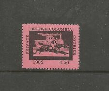 Canadá/British Columbia 1982 $4.50 sello local de mensajería privada