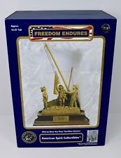 "9-11 FIREFIGHTERS STATUE WIND UP MUSIC BOX ""FREEDOM ENDURES"""