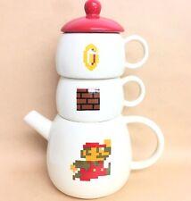Club Dydo Limited Nintendo Super Mario Pot Tower Tea Pot Mug Set import Japan