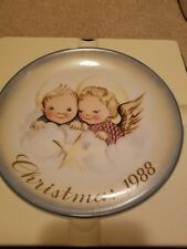 Cheerful Cherubs•Collector Plate•Inspired by Berta Hummel•Christmas 1988•Nib•