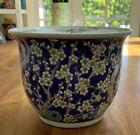 Vintage Chinese Hand Painted Rose Famille Jardinair Flower Pot Planter