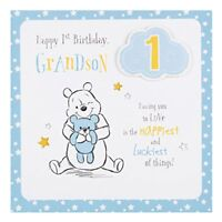 Hallmark Disney Baby 1st Birthday Grandson Card Love - Medium Square