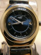 LADIES SWATCH IRONY WATCH,SWISS MADE,  STAINLESS STEEL CASE & BAND, A G 2007 ON