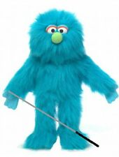 Silly Puppets Blue Monster Glove Puppet Bundle 14 inch with Arm Rod
