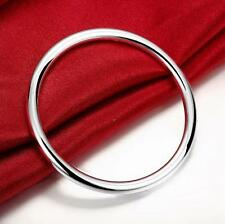 Stunning 925 Sterling Silver Classic 5.5MM High Polished Solid Bracelet Bangle