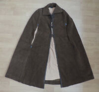 "Women's Vintage Cape Cloak Wool Brown Medieval look 40"" Large R3-16"