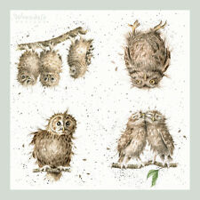Wrendale Designs 4 What a Hoot Owls Single Paper Napkins for Crafts & Decoupage