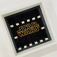 Display case Frame for Lego Star Wars logo minifigures no figures 27cm