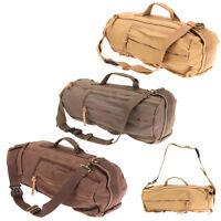 Men's Vintage Canvas Handbag Leather Hiking Travel Messenger Note School Bag