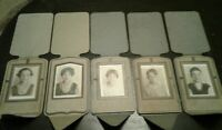 Lot of 5 Vintage Old Pictures Photos Cardboard Frame Professional Liberty Art Co