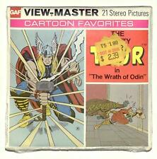 SEALED 1977 vintage GAF view master THOR reel set MARVEL COMICS superhero !
