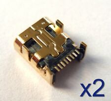 2x Connecteur Mini USB femelle 8 broches plaqué Or /Connector female 8 pins gold