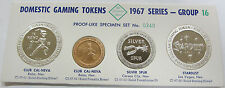 1967 Domestic Gaming Tokens with Silver Group 16 The Franklin Mint Very Rare!