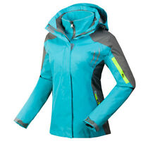 NEW Womens 3in1 Outdoor Jacket Waterproof Fleece Lining Hiking HOODED Clothes