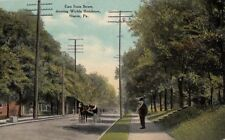 Postcard East State Street showing Wickla Residence Sharon Pa