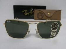 New Vintage B&L Ray Ban Small Caravan 52mm Gold L0226 Square Aviator USA NOS