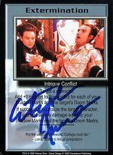 Babylon 5 Ccg Stephen Furst Premier Extermination Autographed Signed Card