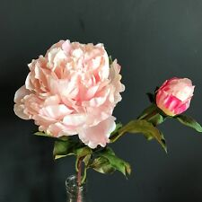 Large Light Pink Peonies, Realistic Artificial Luxury Faux Silk Peony Flowers