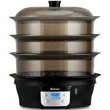 3 Tier 20qt Electric Food Steamer Digital Vegetable Pot Cooker Stackable Baskets