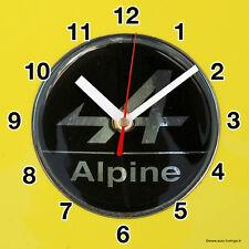 HORLOGE MURALE Logo ALPINE RENAULT SUR TOLE JAUNE-03M