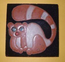 Folk Art terracotta Tile with Animal