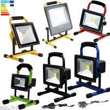 10W-100W LED AKKU Arbeitsleuchte Baustrahler Fluter Handlampe Flutlicht Strahler