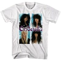 CINDERELLA cd lgo BAND PHOTO BOXED IN Official White SHIRT XL new