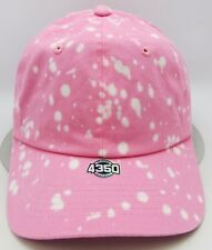 Pink Unconstructed Color Dyed Splatter Cap Dad Painter Hat Adjustable NWT
