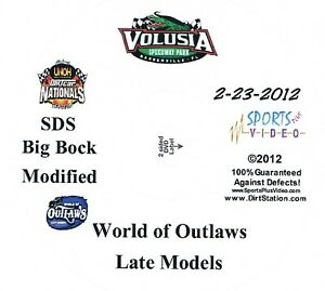 World Of Outlaws Late Models DVD From Volusia Speedway Park 2-23-2012