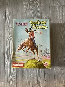 Vintage Marx Woolworth Toy Western Bucking Broncho Horse & Cowboy Box Complete