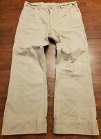 Vintage Levis Flare Wide White Tab Pants 22230-2426 Beige Metal Logo Rare 38X32