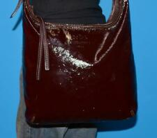COACH BLEEKER Brown Patent Leather SOPHIE Tote Crossbody Purse Hobo Bag 12387