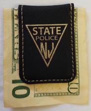 NJSP New Jersey State Police Black Leather Money Clip