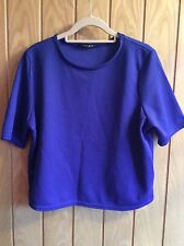 Primark Blue Textured Cropped Top - Size 16