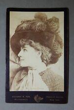Ca.1890 Albumen Photograph Cabinet Card Mrs. Brown Potter / Fox Photographer /nr