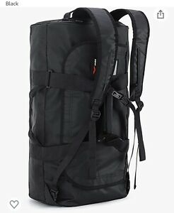 NEW Mier 90L Water Resistant Backpack Duffle Heavy Duty Convertible Duffle Black
